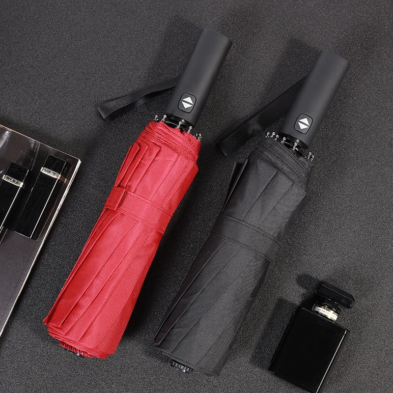 Купить с кэшбэком Travel Folding Windproof Compact Umbrella Strong Storm Proof Frame + Auto Open Close Parasol  Umbrellas for Women Mens