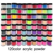 1Jar Acryl Pulver 90 Farben Carving Kristall Polymer 3D Nagel Kunst Kristall Pulver Builder Gel Tipps Builder für Maniküre TDIP-2TH