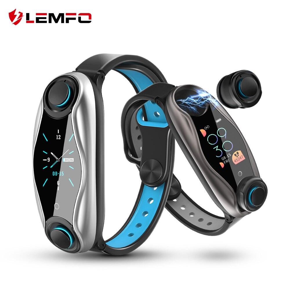 LEMFO LT04 Intelligente Orologio Con Auricolare Senza Fili Bluetooth 5.0 di Pressione Sanguigna IP67 Smart Orologio Da Polso Impermeabile