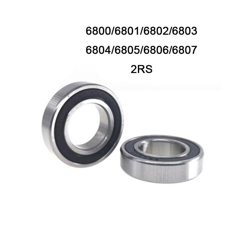 Factory Price Thin Wall Ball Bearings 10pcs Bearing Bearing Steel 6800 6801 6802 6803 6804 6805 6806 6807 2RS 2RZ High Quality