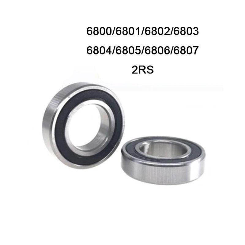 Precio de fábrica de pared delgada rodamientos de bolas 10 Uds cojinete rodamiento de acero 6800, 6801, 6802, 6803, 6804, 6805, 6806, 6807 2RS 2RZ de alta calidad