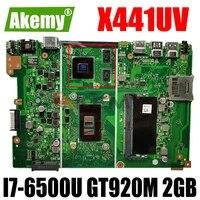 akemy x441uv laptop motherboard for asus vivobook max a441u a441uv original mainboard 4gb ram i7 6500u gt920m 2gb