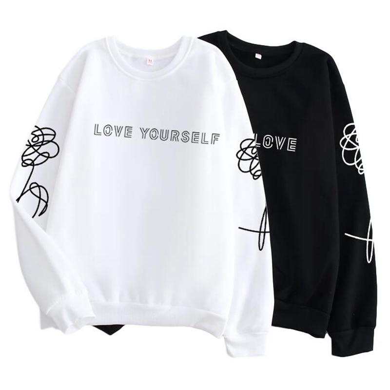 Kpop/одежда в стиле Харадзюку «люби себя»/поддельная Любовь K-поп-майка, хипстер, подарок для девушки в instagram, k pop рубашка Jimin