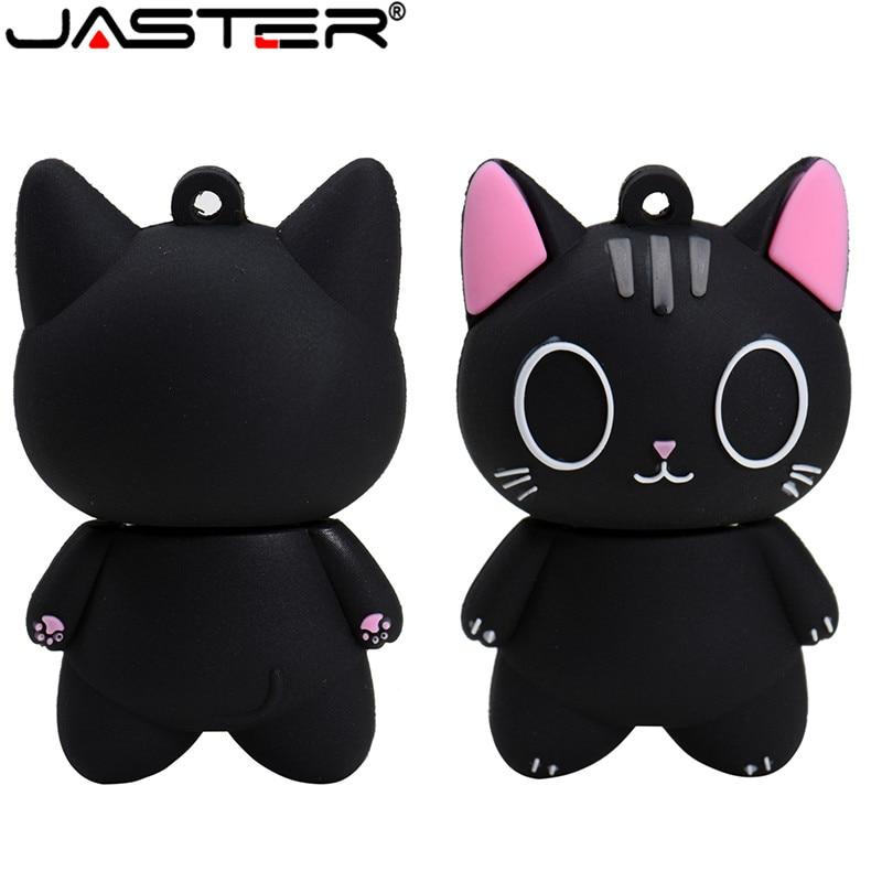 Usb JASTER pendrive de gato de dibujos animados usb flash drive et 1 GB 2GB 4GB 8GB 16GB 32GB 64GB 128GB USB 2,0 pen drive lápiz de memoria usb de disco u