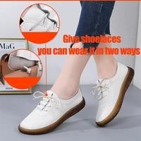 aardimi women ballet flat sport shoes for ladies genuine leather flats female casual loafers shoes woman winter warm footwear