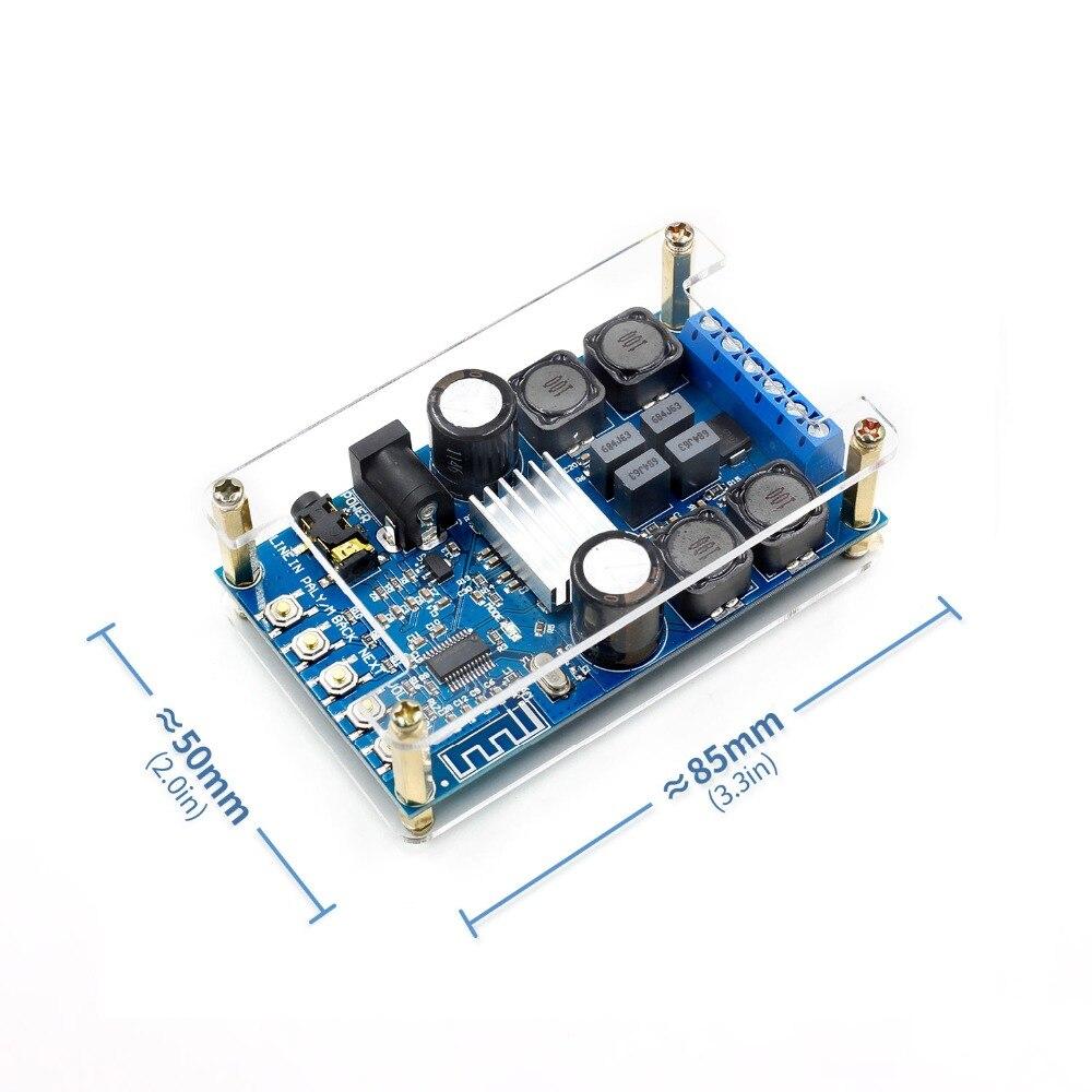 Amplificador Digital Bluetooth para Audio, placa de alimentación de doble canal, 50Wx2 sin POP, circuitos integrados de sonido, envío directo Z10