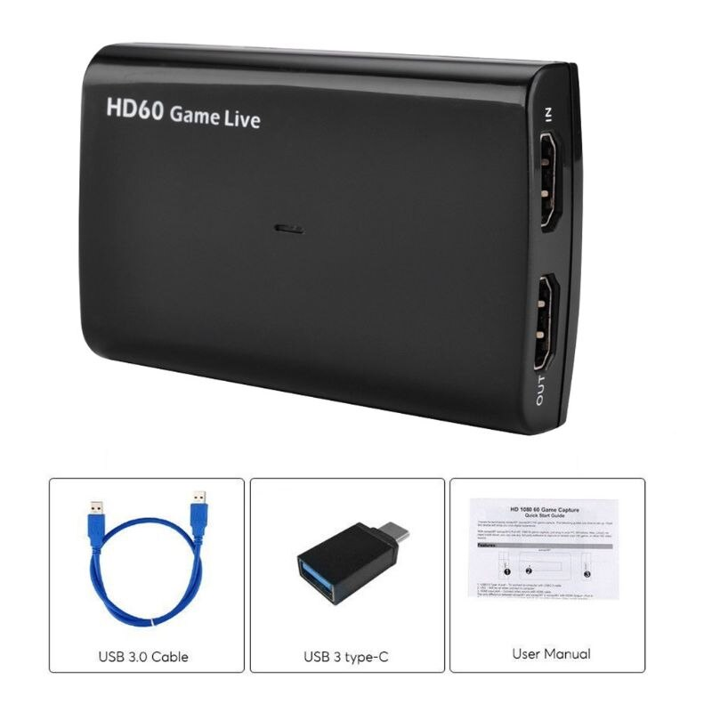 1 Juego de captura de vídeo hdMI USB 3,0 Mic 1080P, grabador de Video Juego para PS3 PS4 TV Box