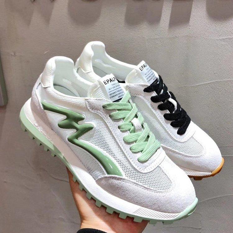 أحذية نسائية غير رسمية على الطراز الكوري ، شبكة مسامية ، أحذية نسائية ، أحذية سوبر فاير