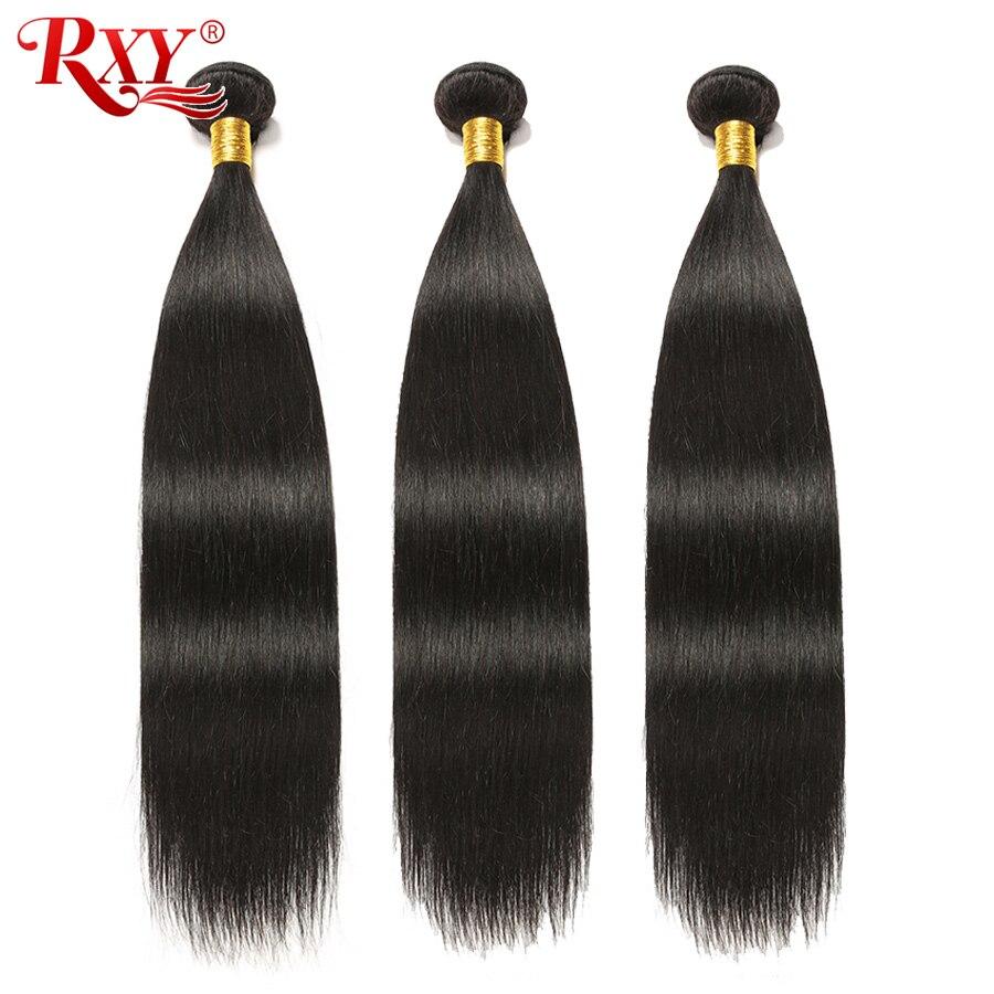 Mèches péruviennes naturelles Remy-RXY   Extensions de cheveux, lisses, 8 à 28 pouces, offres en lots de 3/4