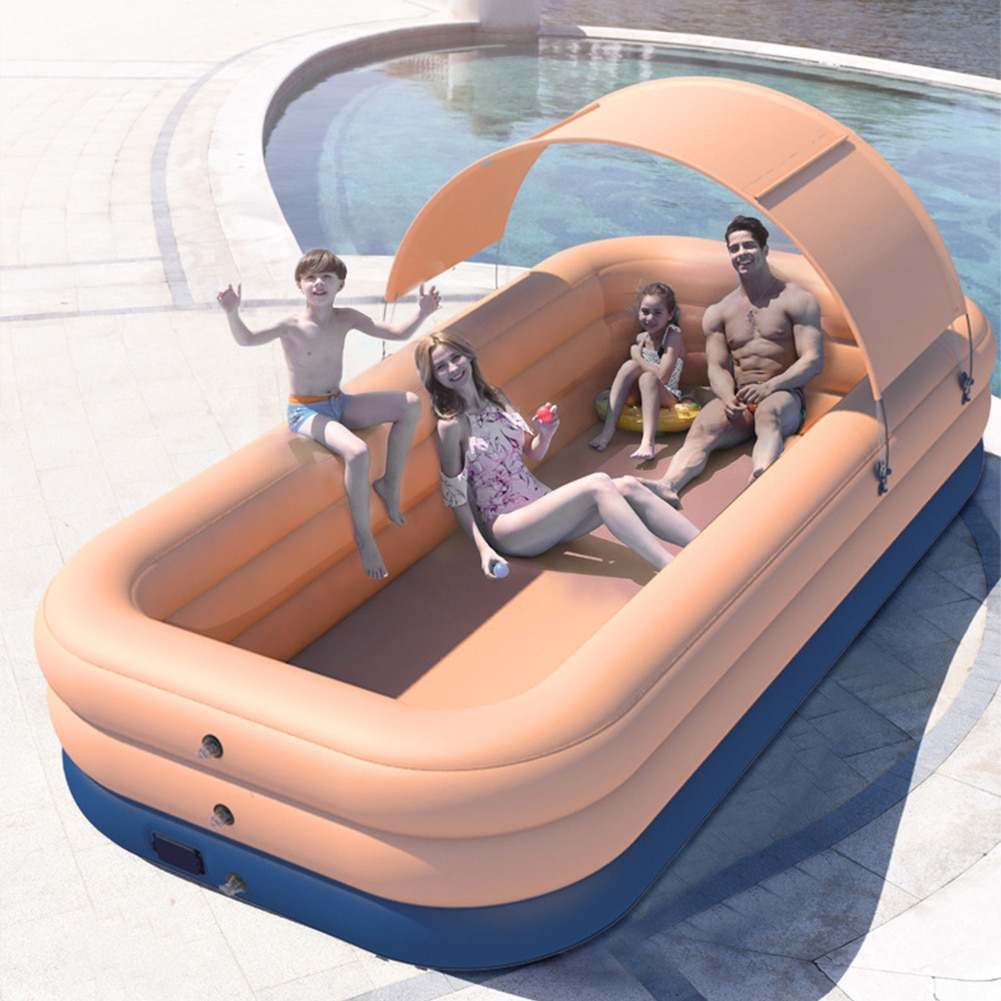 210CM 3 Layer Automatic Inflatable Swimming Pool Large pools for family Removable Children's Pool Ocean Ball PVC Thick Bath Kid