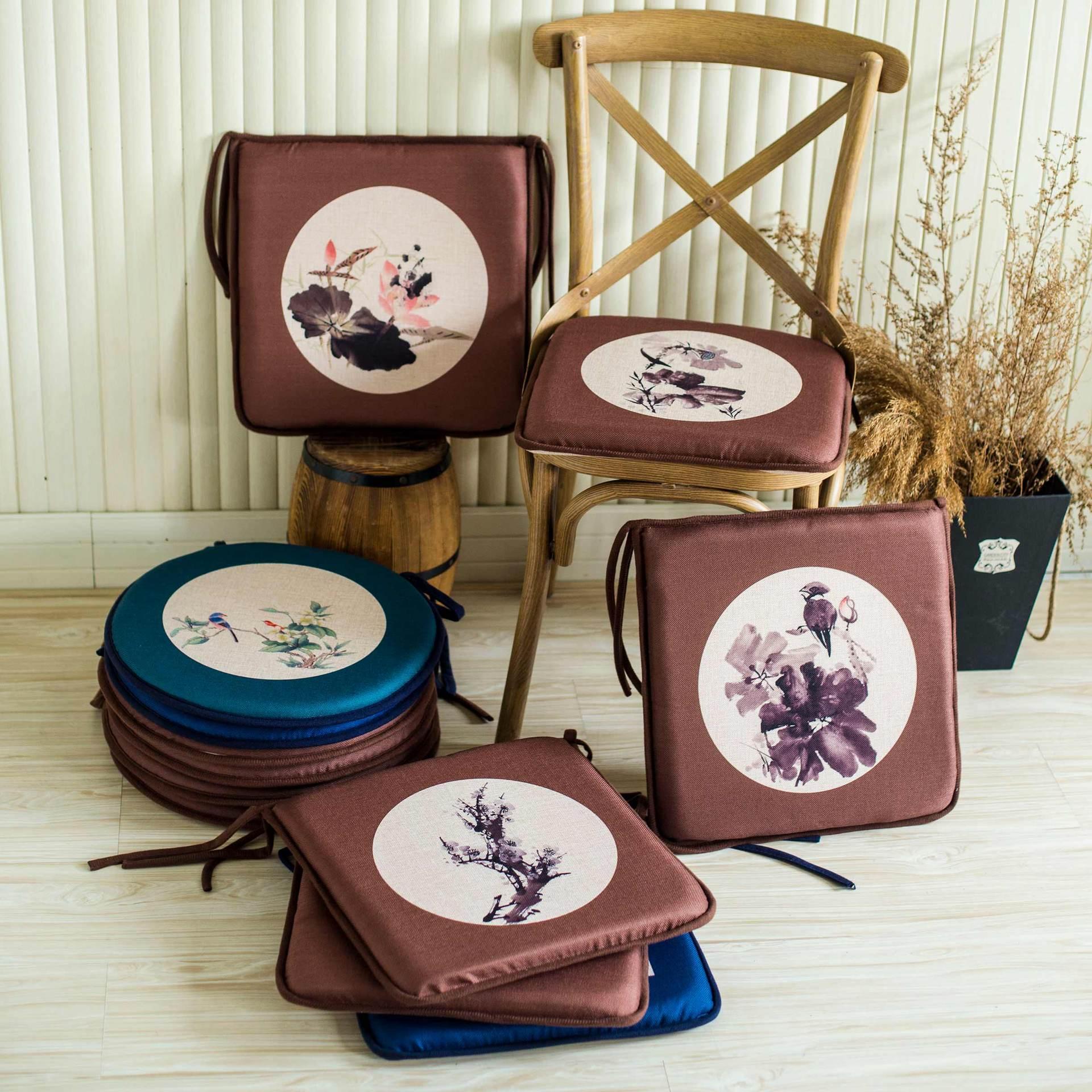 Chinese style Home Sofa Pillow Mahogany chair Cushion Pad Winter Office Bar Chair Back Seat Cushions Home Decor Seat Cushion