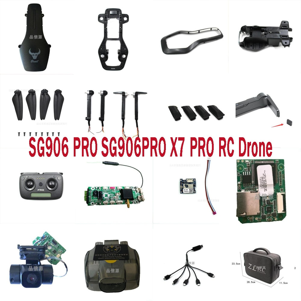 SG906PRO SG906PRO2 x7pro RC Drone Quadcopter Spare Parts motor arm set blades body shell GPS module