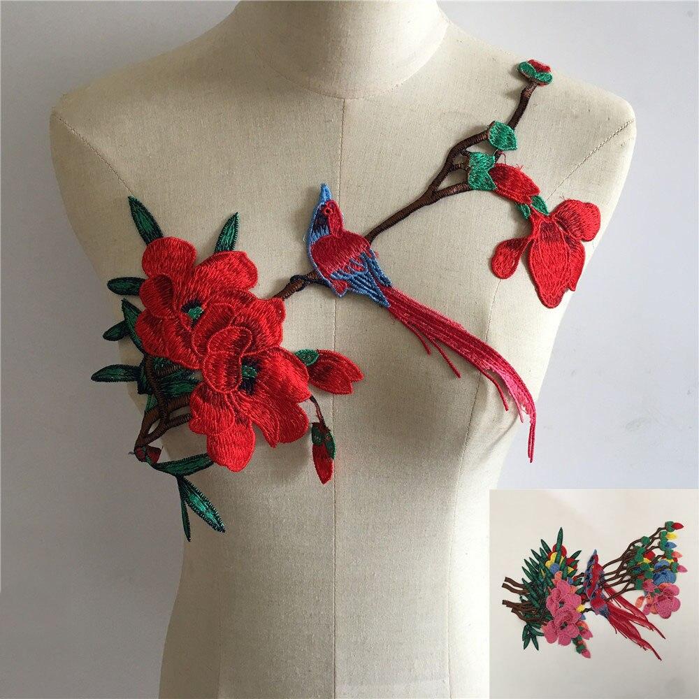 Accesorios para vestido de mujer DIY de tela de encaje bordado con cuello de encaje de costura con bordado de estilo a la moda