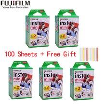 10-100 feuilles Fuji Fujifilm instax mini 11 9 films bord blanc 3 pouces de large film pour appareil Photo instantané mini 8 9 11 7s 25 papier Photo