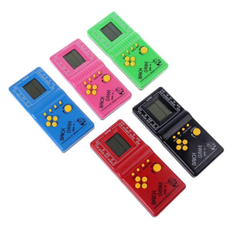 LCD Spiel Elektronische Vintage Klassische Tetris Ziegel Handheld Arcade Tasche Spielzeug