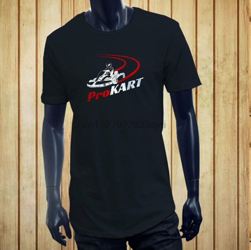 Camiseta de carreras PRO KART, carreras, GO KART, velocidad, DRIFT para hombres, azul marino, largo extendido