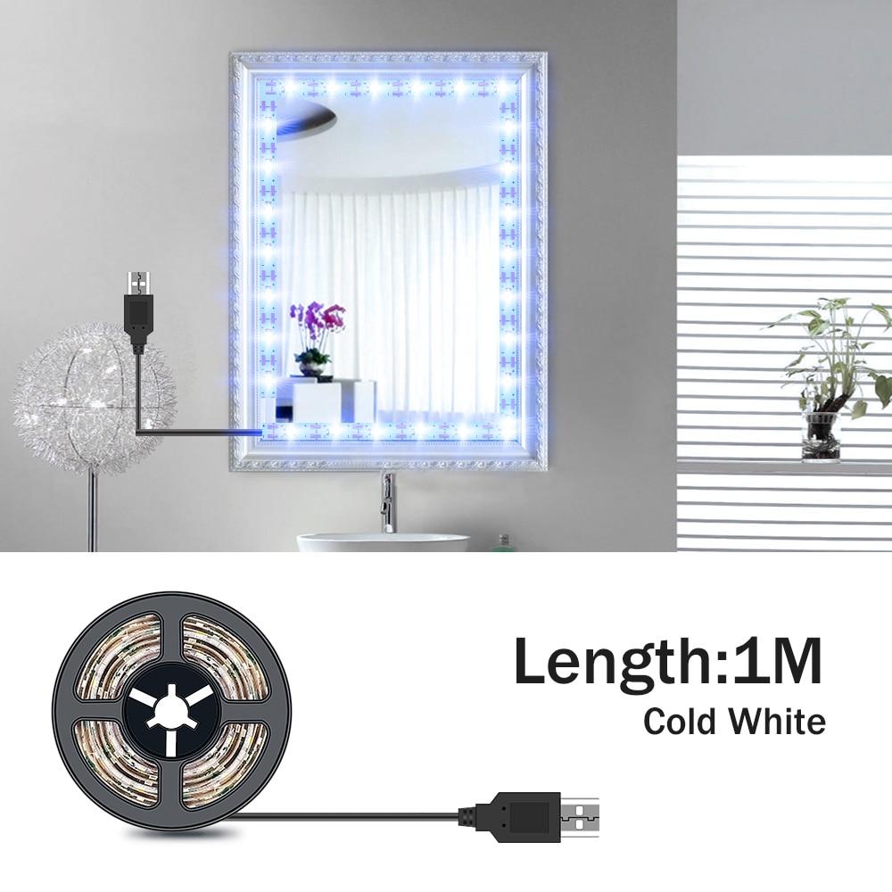 AliExpress - 5M Vanity Mirror Lights LED Dressing Table Makeup Light USB 5V Cosmetic Lamp Hollywood Lighting LED Wall Lamp Flexible Lamp