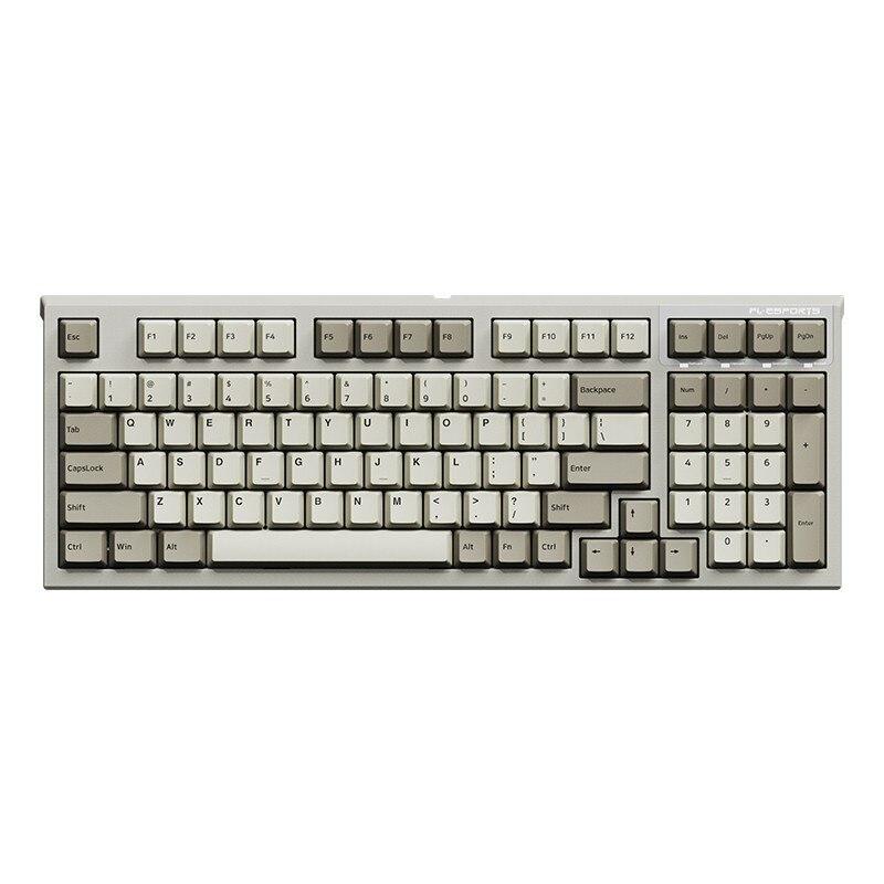 لوحة المفاتيح الميكانيكية الميكانيكية esport fl980 ، 98 مفتاح ، ستة مفتاح ، للألعاب ، معدات مكاتب خاصة