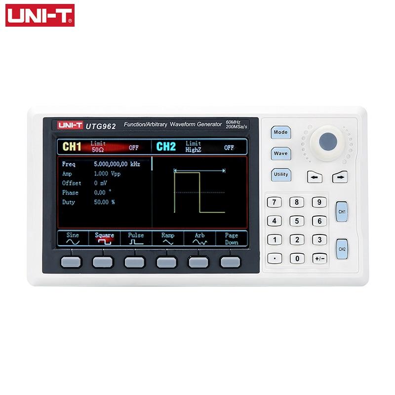 UNI-T UTG932 UTG962 функция генератор сигналов произвольной формы источник сигнала двухканальный 200 мс/с 14 бит частотомер 30 МГц 60 МГц