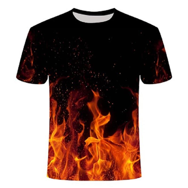2020 NOVEDAD DE VERANO 3d t camisa Camiseta negra Casual Camiseta Streatwear...