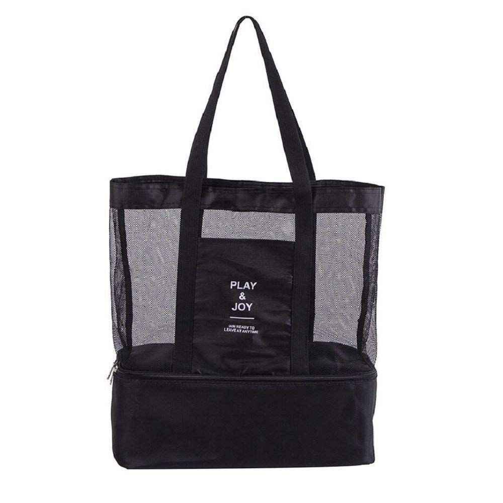 High Capacity Women Mesh Transparent Bag Double Layer Heat Preservation Large Picnic Beach Bags Sport Bag Sport Bags Covers Aliexpress