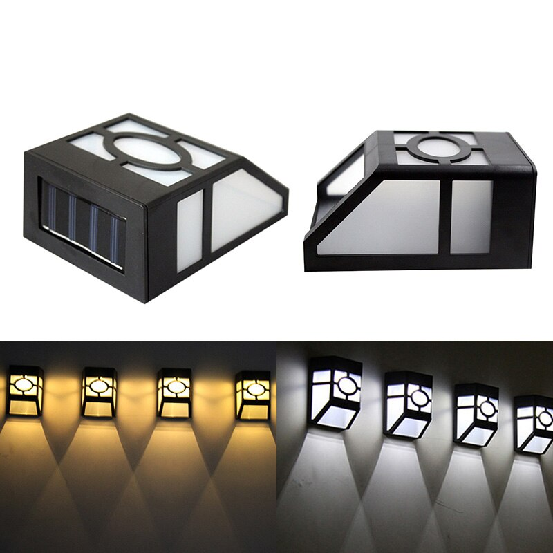 Fashionable Vintage Solar Powered Wall Mount LED Light Outdoor Garden Path Landscape Yard Home Decor Lamp Lampara Drop Shipping