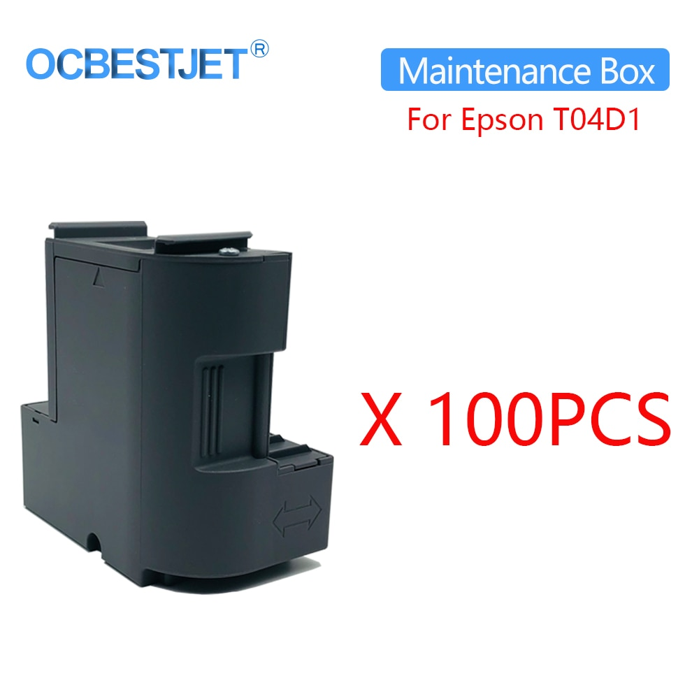 100 قطعة C13T04D100 صيانة خزان الحبر لإبسون ايكو خزان L6160 L6161 L6168 L6170 L6171 L6178 L6190 ET-2750 ET-2700 طابعة