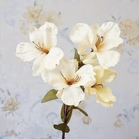 artificial lily flowers bridal silk fake flower bouquet white lily plants christmas home decor weeding party wedding decoration