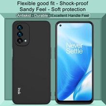 IMAK For OnePlus Nord N200 5G Phone Cover Skin Feel Back Cover for OnePlus Nord N200 5G Soft TPU Bla