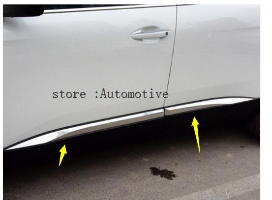 Detector de puerta lateral de acero inoxidable de alta calidad para Peugeot 3008/4008 2016 2017 2018 4 Uds