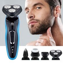 Rasoio elettrico ricaricabile rasoio galleggiante per barba rasoio elettrico portatile a doppio uso a secco per uomo rasatura macchina F30