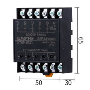 Light Isolated Solid State Relay SSR Module ST5P-5D-N ST5P-5DD ST5P-5DA-N Contactless Solid State Relay Module 8 Route 12V24V5A