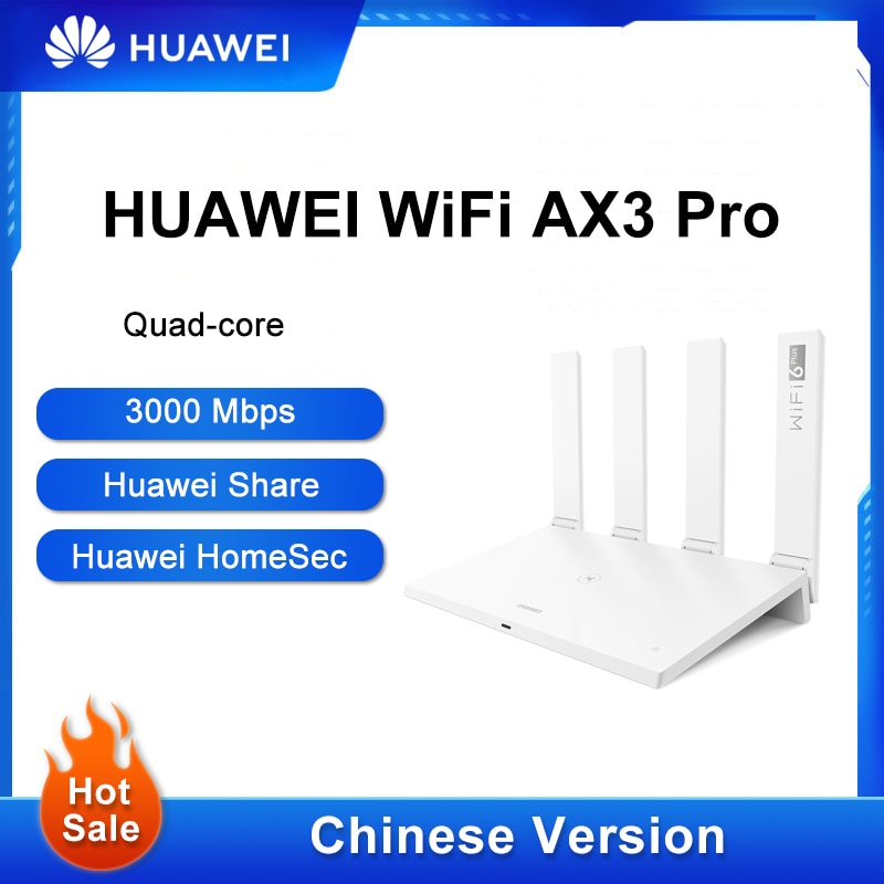 Chinese Version Huawei WiFi Router AX3 Pro Dual-Core Amplifier Wireless Router 2.4&5G WiFi 6 + 3000Mbps NFC Repeater Wi-Fi