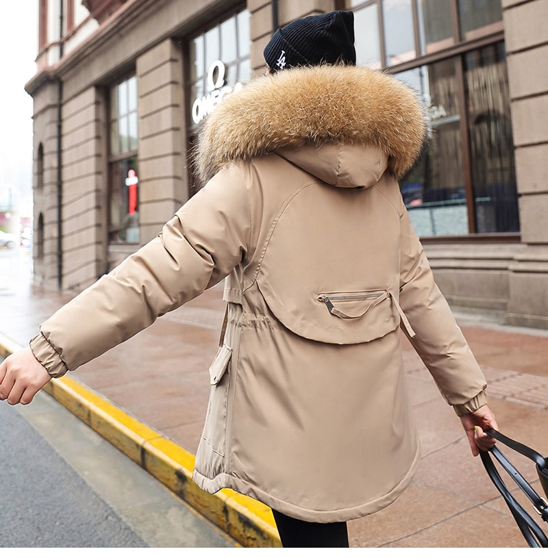 الشتاء سترة النساء عارضة الدافئة الصلبة مقنعين معطف بركة (سترة من الفراء بقبعة للقطب الشمالي) مكتب سيدة القطن وسادة مبطنة زائد حجم M-3XL