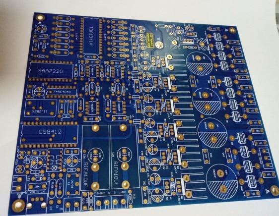 TDA1541 PCB لوحة فارغة الطبعة الرابعة الغمر مجلس الذهب