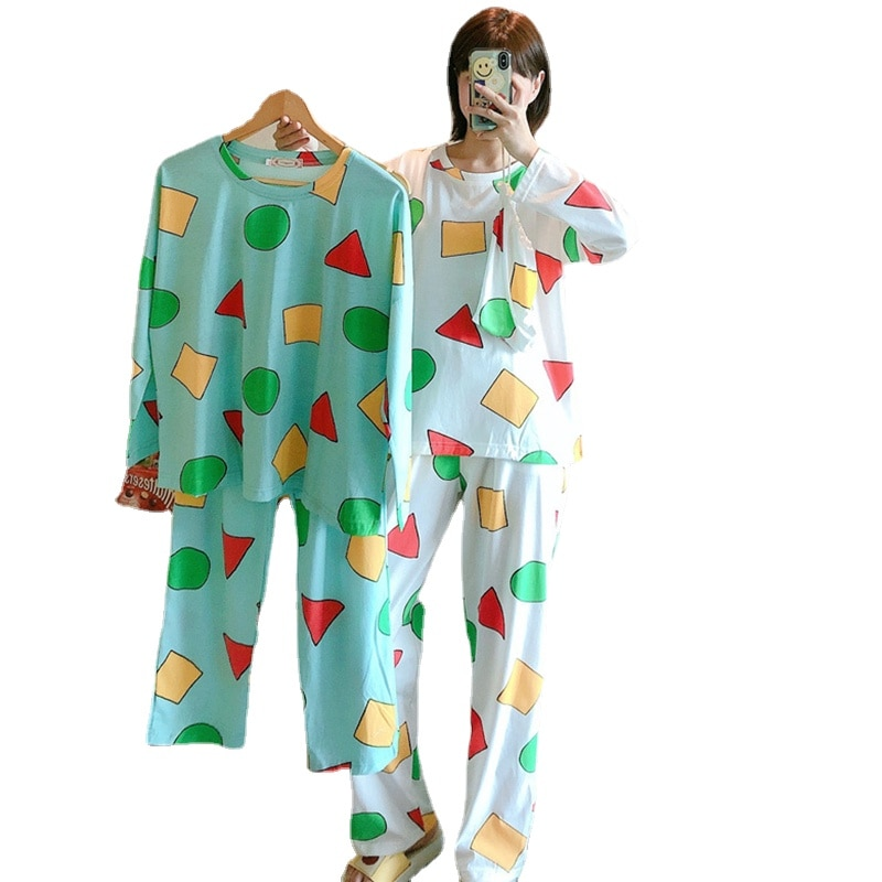 Short Sleeve Pajamas for Women 2021 Summer Kawaii Strawberry Pajama Set Sleepwear Homewear Ladies Silk