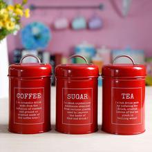 Kitchen Gadgets 3Pcs/Set Storage Container Spice Jar Sugar bowl Coffee Tea Canister Food Storage tank Kitchen Storage Organizer