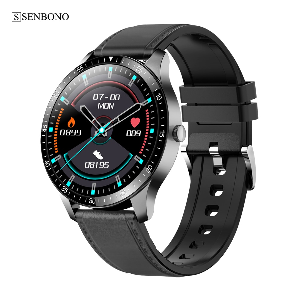 SENBONO S80 ساعة ذكية للرجال رياضية مقاومة للماء IP68 النوم معدل ضربات القلب اللياقة البدنية المقتفي 2020 المرأة Smartwatch ل IOS أندرويد هواوي