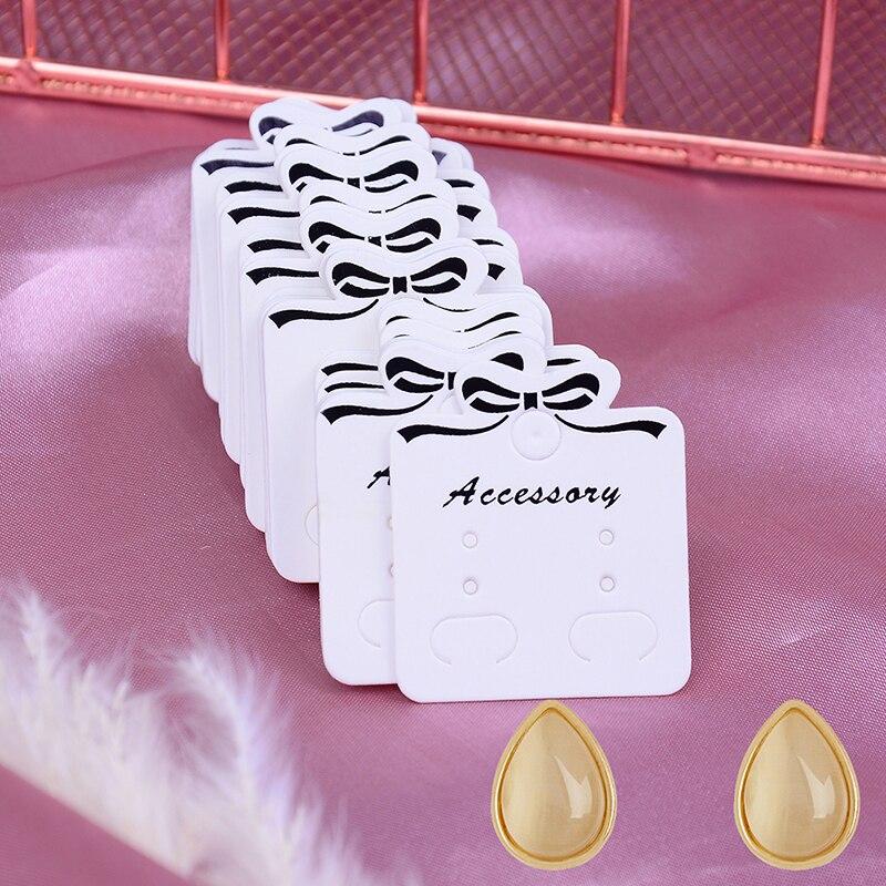 100 Uds. Collar/pendiente/horquilla/colgante embalaje cartón joyería muestra papel Kraft oreja tachuelas tarjeta etiqueta etiquetas