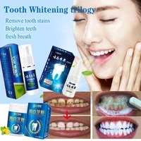 teeth whitening kit cleansing quick stain removing dental oral care hygiene toothpaste tooth white essence set bleaching powder