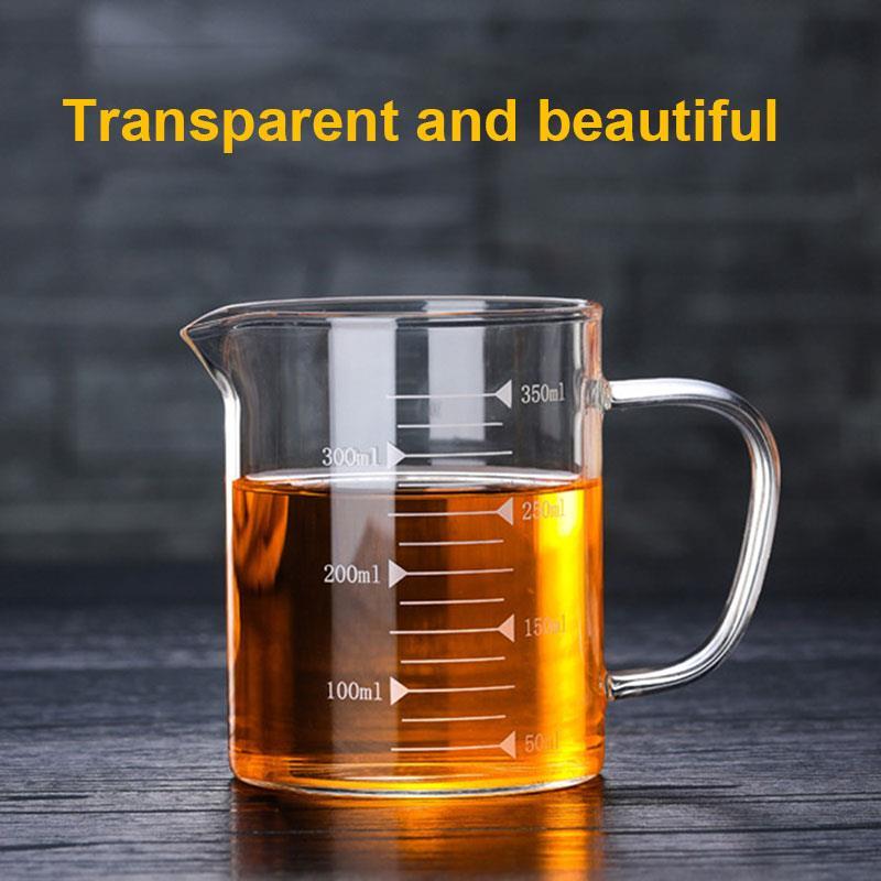 350 мл/500 мл высокое боросиликатное стекло стеклянная чашка мерная чашка Прочный Бар инструмент для выпечки контейнер креативные жидкие молочные напитки