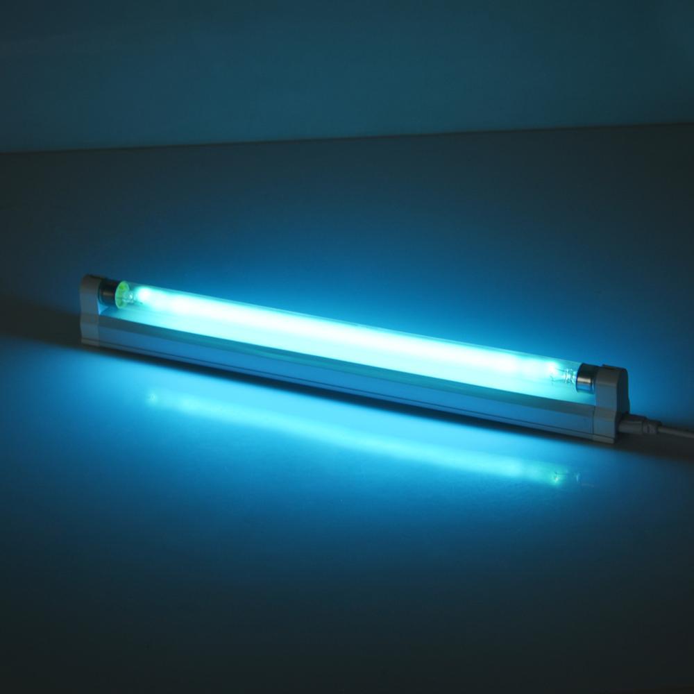 6W 8W Luz de cuarzo UV azul con ozono ultravioleta desinfección tubo lámpara desinfección ultravioleta germicida UVC lámpara de luz
