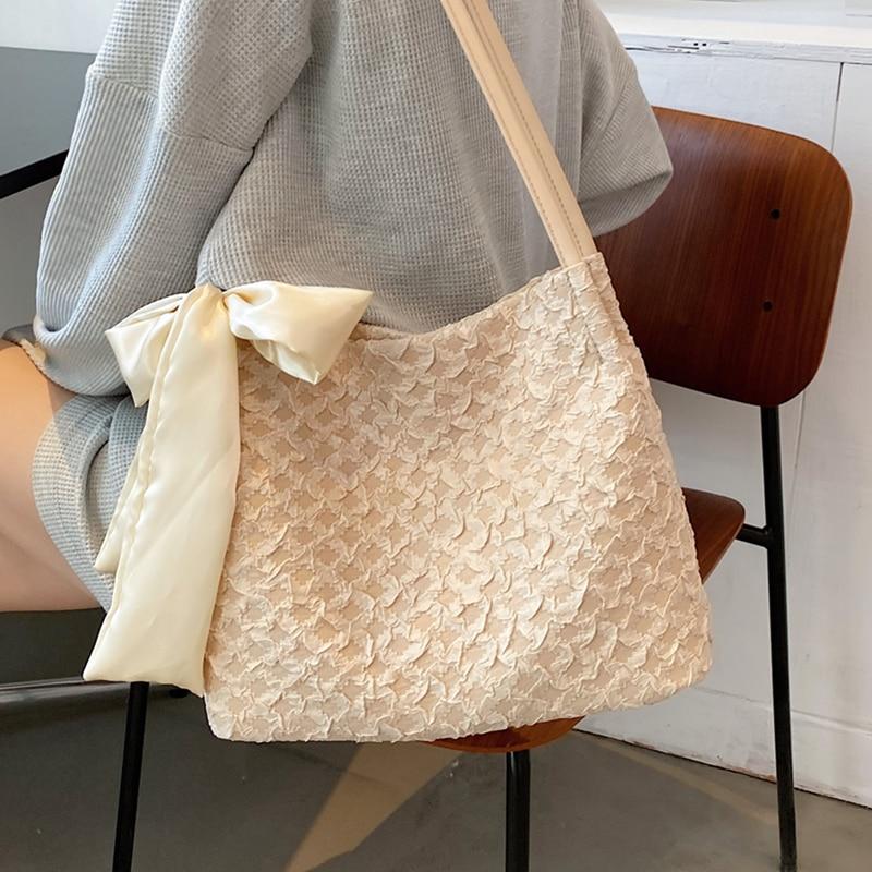Big Canvas Tote Bags for Women Large Capacity Soft Shopper Bag Summer Travel Handbag Female Leather Strap Designer Shoulder Bag