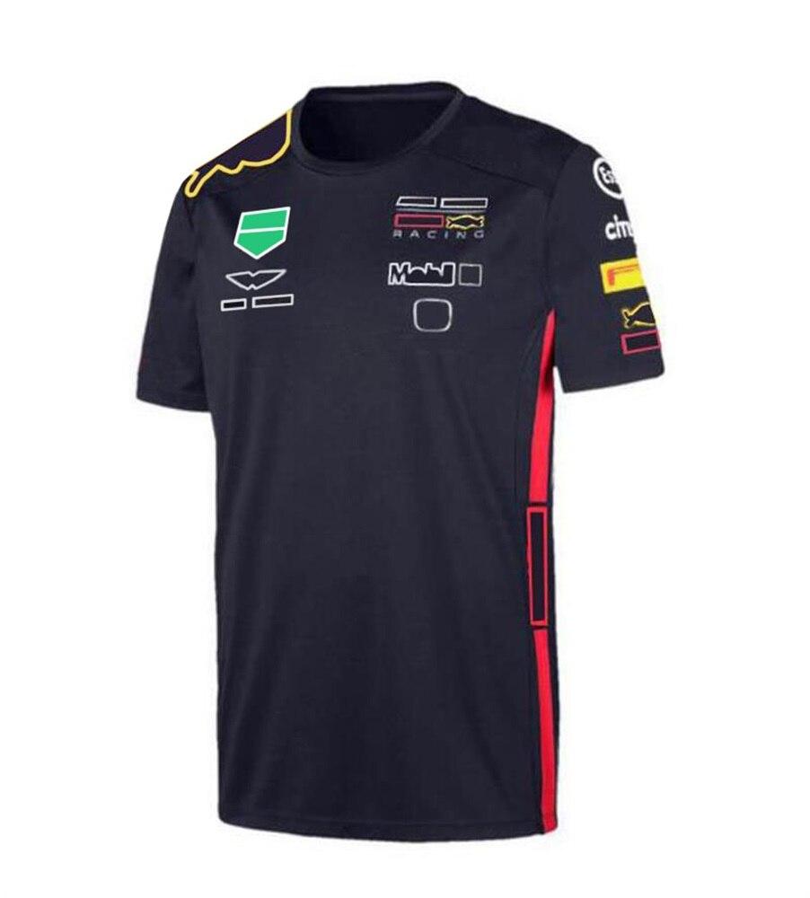 Гоночный костюм с экстремальной командой F1 2021, футболка с коротким рукавом, рубашка-поло, рабочая одежда с лацканами для автомобиля, командн...
