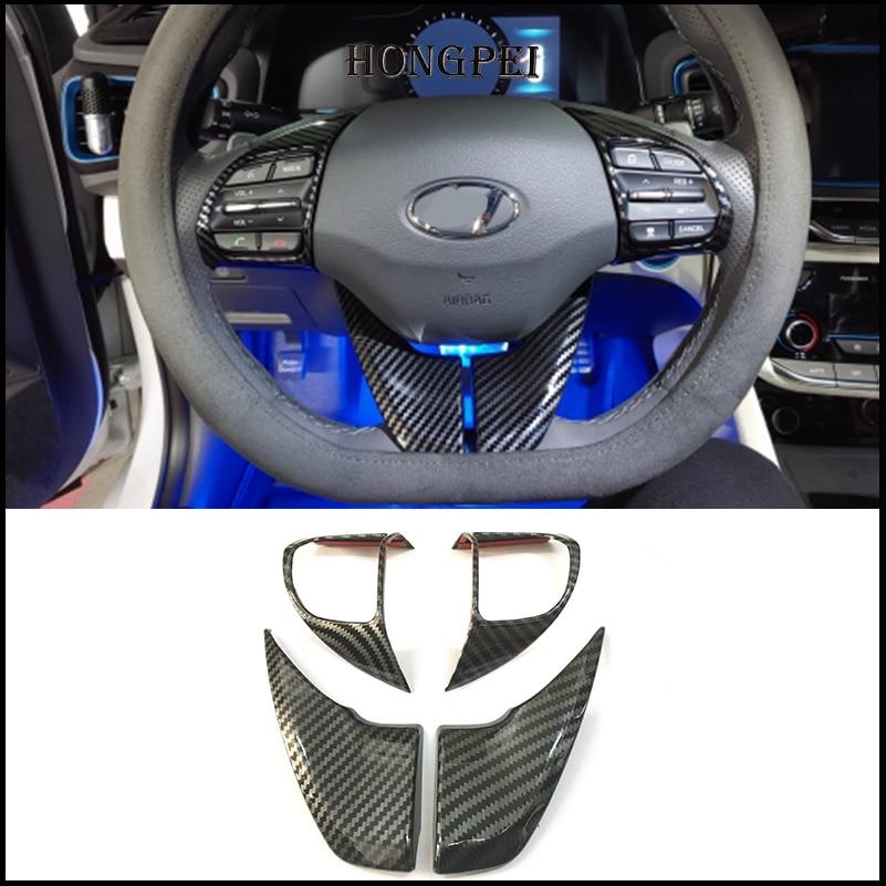 Автомобильный Стайлинг, оплетка рулевого колеса, отделка, интерьерная наклейка для Hyundai IONIQ 2016 2017 2018, автомобильные аксессуары