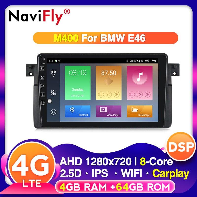 Android 10 4G RAM 64G ROM Carplay para BMW E46 M3 Rover 75 Coupe 318/320/325/330/335 Autoradio radio RDS wifi Multimedia ipod