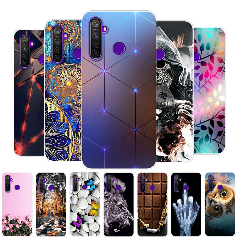 Para realme 5S caso oppo realme 5S caso silicone tpu macio capa traseira caso do telefone para realme 5S 5 s rmx1925 realme5s coque pára-choques
