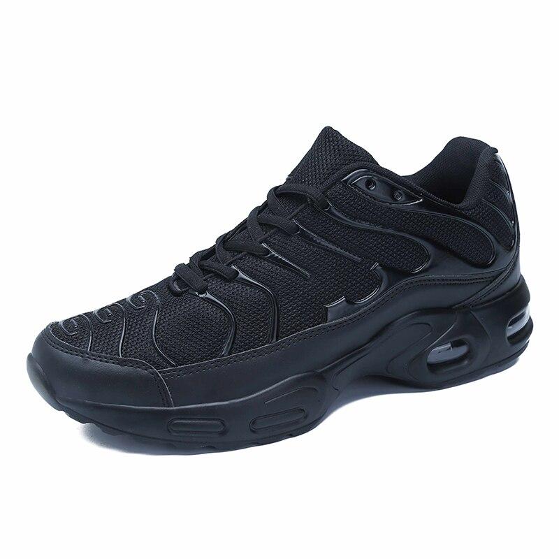 Tênis de malha de alta qualidade dos homens respirável almofada sapatos casuais rendas-up tamanho grande 47 sapatos masculinos casuais primavera/outono