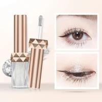 6 colors diamond shining liquid eyeshadow fine pearlescent waterproof lasting monochrome liquid eyeshadow eyeliner cosmetic