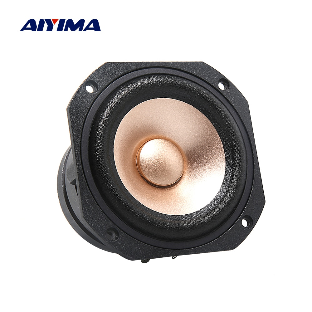AIYIMA 1 قطعة 4 بوصة مجموعة كاملة الصوت المتكلم سائق 4 أوم 100W 25 النواة ايفي الموسيقى سيارة رئيس المزدوج المغناطيس المسرح المنزلي مكبر الصوت